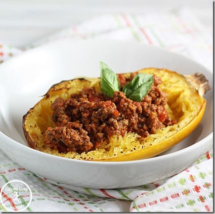 Spaghetti squash sliced into rings and cooked in an Instant Pot will result in long strands of