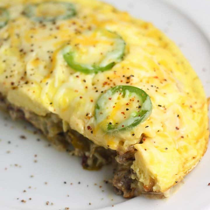 Keto sausage and Jalapeno frittata is perfect for weeknight dinners!