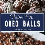 plate with chocolate covered oreo balls gluten free