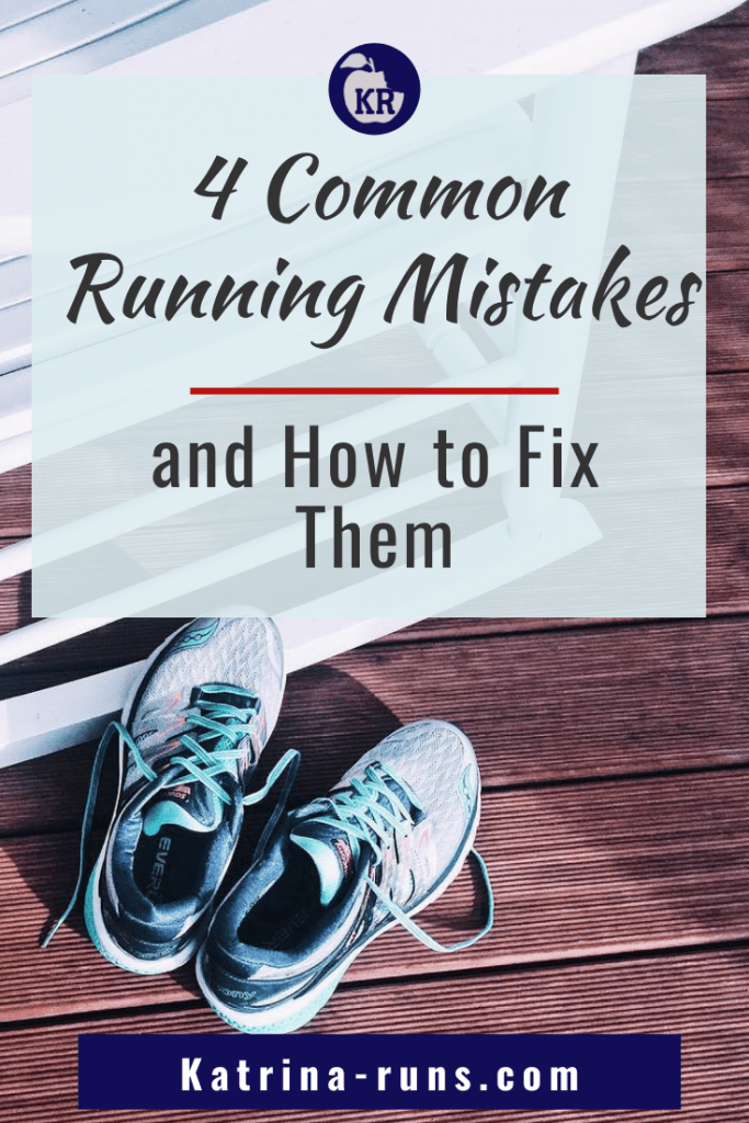 Graphic with Common Running mistakes